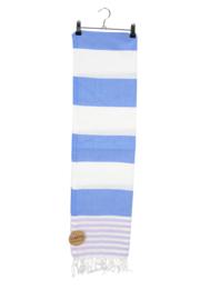 Haman Patai 100 x 180 cm Wit-Lichtblauw-Paars