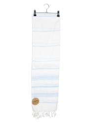 Haman Patai 100 x 180 cm Wit-Lichtblauw