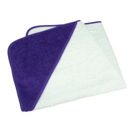 Babycape Wit-Paars 75 x 75 cm