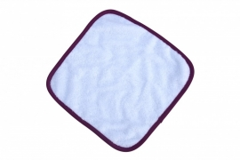 Spuugdoekje Wit / Donkerroze 035.50 White / Aubergine