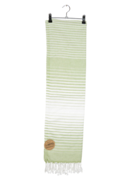 Haman Patai 100 x 180 cm Olijfgroen-Wit