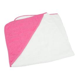 Babycape Wit-Roze 75 x 75 cm