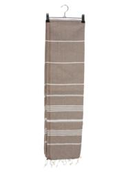Haman Patai 100 x 180 cm Bruin-Wit