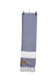 Hamam Marmaris Deluxe 100 x 180 cm Marineblauw - Wit