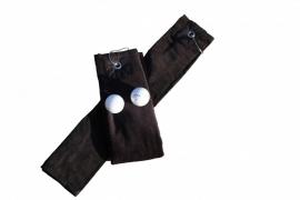 Golfhanddoek de Luxe Zwart 014.50 Black