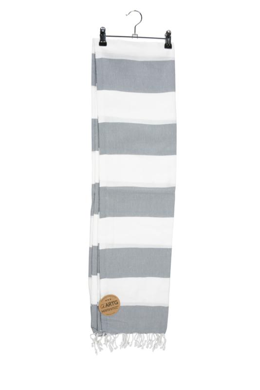 Haman Patai 100 x 180 cm Wit-Grijs