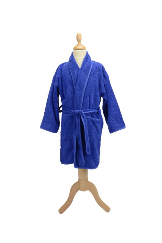 Kinderbadjas Sjaalkraag Middenblauw