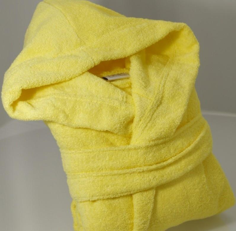 Gele badjas met capuchon