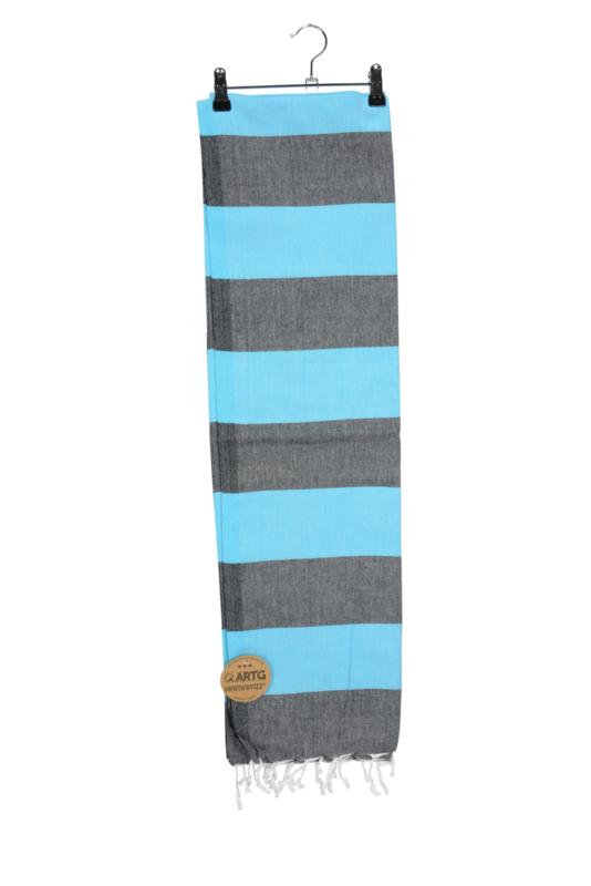 Haman Patai 100 x 180 cm Donkergrijs-Zeeblauw