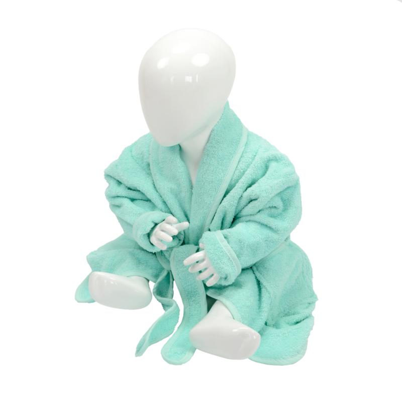 Babybadjas Sjaalkraag Mintgroen