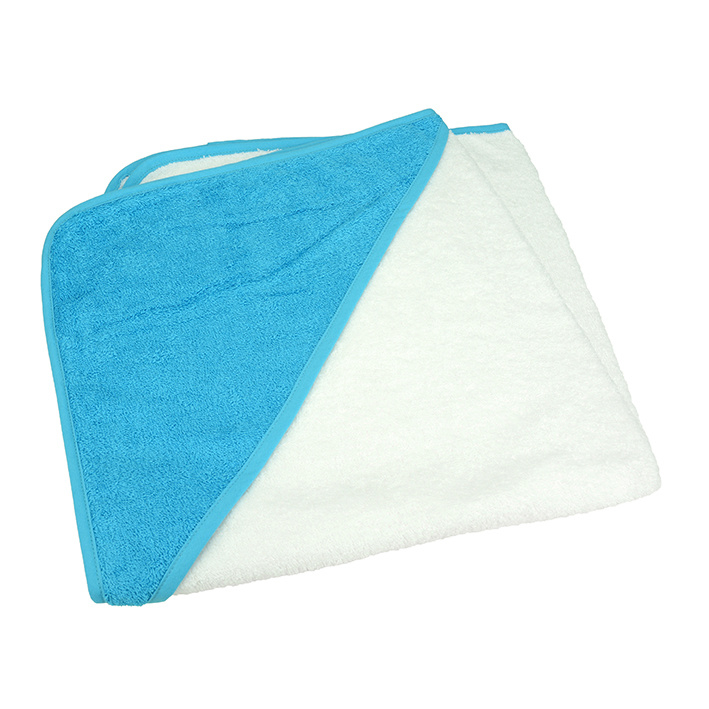 Babycape Wit-Zeeblauw 75 x 75 cm