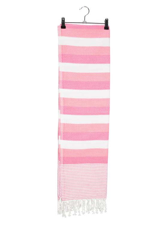 Haman Patai 100 x 180 cm Wit-Lichtroze-Roze