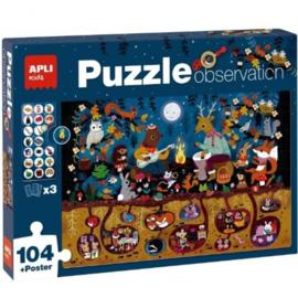 APLI kids, puzzel Observatie bosdieren