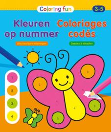 Kleurboek kleuren op nummer 3-5 jarigen