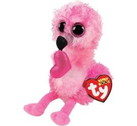 TY Beanie Boo's Dainty Heart Flamingo