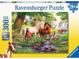 Ravensburger Puzzel Wilde paarden bij de rivier