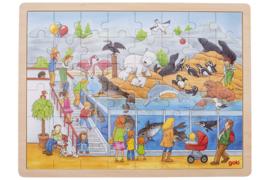 GOKI houten legpuzzel Dierentuin 48- delig