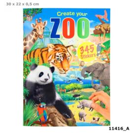 Stickerboek Create Your Zoo