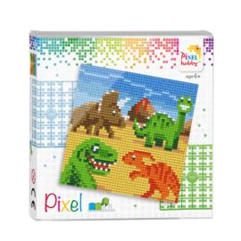 Pixelset Dinosaurussen