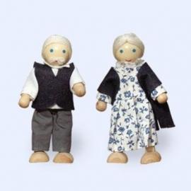 Poppenhuispoppetjes Opa en Oma Bakker