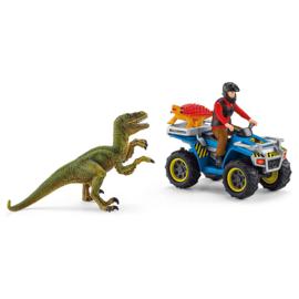 Schleich Vlucht van Velociraptor op quad