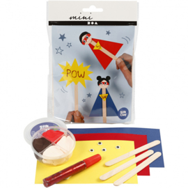 Mini Creative Kit IJsstokjesfiguren- Super hero