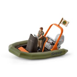Schleich Rubberboot met Ranger