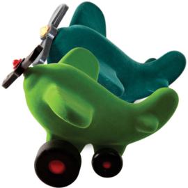 Rubbabu propeller vliegtuig groen