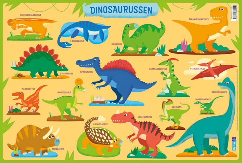 Educatieve onderleggers- Dinosaurussen