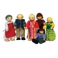 Poppenhuispoppetjes Familie De Jong