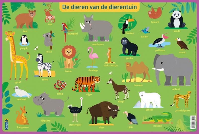 Educatieve onderleggers- De dieren van de dierentuin