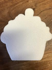 Cupecake van piepschuim. 15 cm