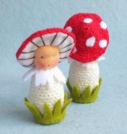 pakketje gehaakte paddenstoel