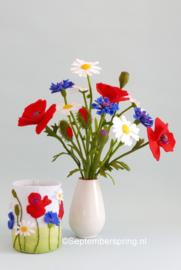 Korenbloem blauw paars (zomerlichtje) 15x20