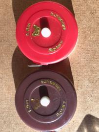 Rolcentimeter rood