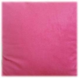 roze velours 50 x 70 cm.