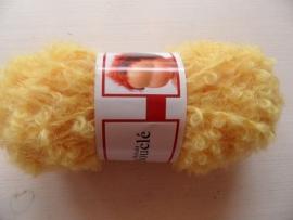 Haartjes wol geel