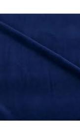 blauw velours 50 x 70 cm.