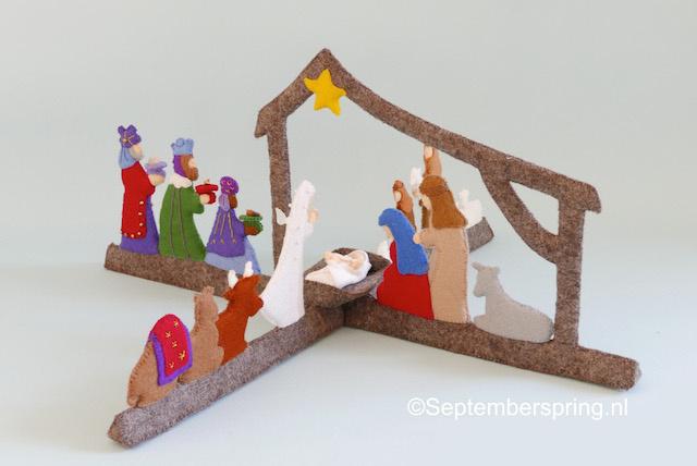 Rondom de kerststal (patroonblad)