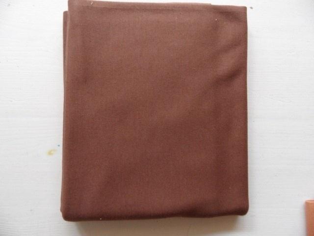 Huidtricot bruin 1 meter x 80 cm.