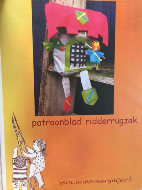 patroonblad Ridderrugzak