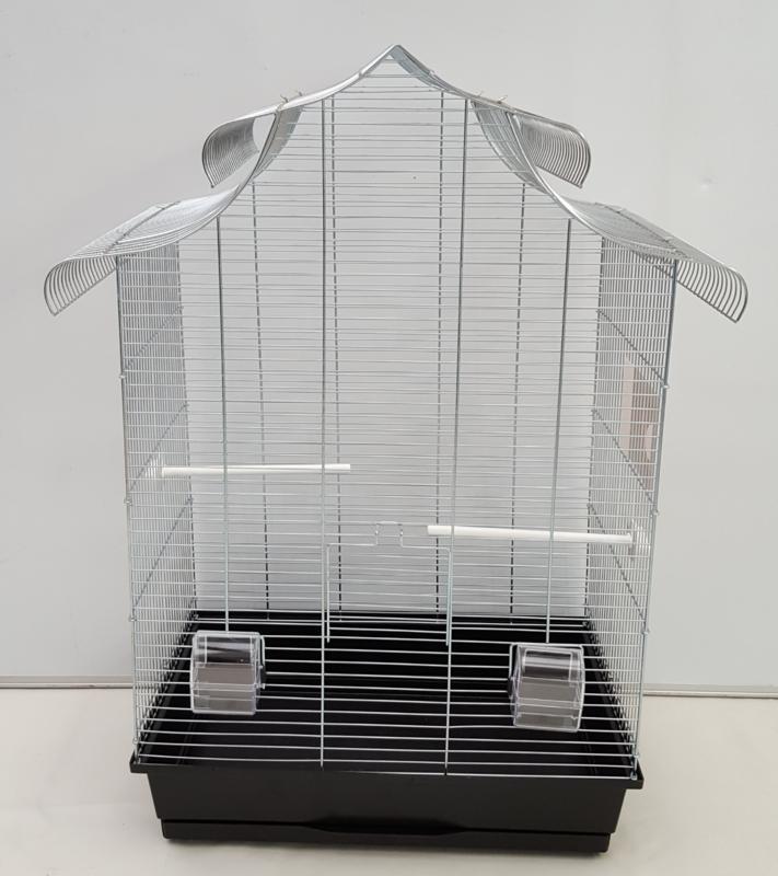 Amadyna vogelkooi (grijs)chroom of zwart