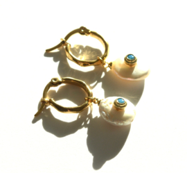Pearl & Zirconia Golden Earrings