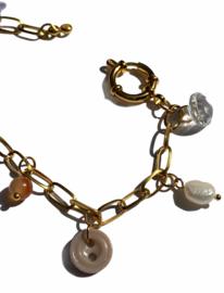 Vintage Preloved Beads & Buttons Bracelet No. 5