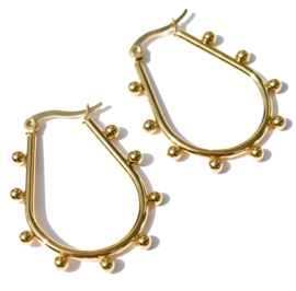 Kugler Golden Hoop Earrings