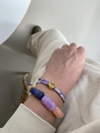 Chunky Letter & Smile Liberty Bracelet