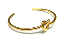 Knot Golden Bangle