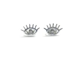 EYE earstuds silver