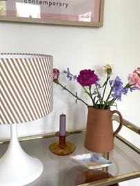 White & Stripes Caramel Vintage Lamp