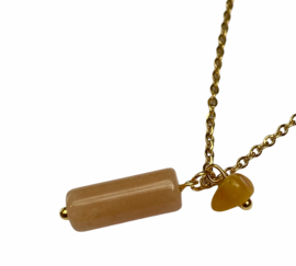 Amber & Agate Natural Necklace